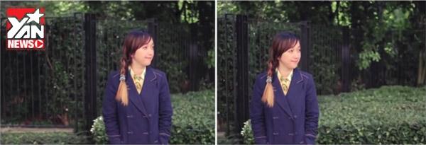 Bức hình đúng và đẹp là hình bên phải, người mẫu có một khoảng không gian trước hướng nhìn