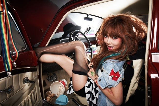 HyunA là thành viên nổi trội trong nhóm 4Minute.