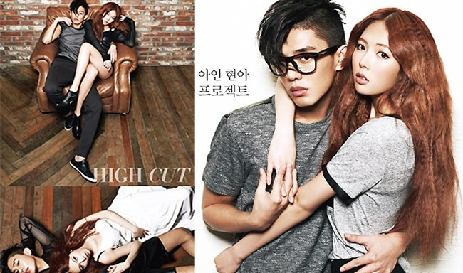 HyunA chụp hình trên tạp chí cùng nam diễn viên Yoo Ah In (phim Fashion King).