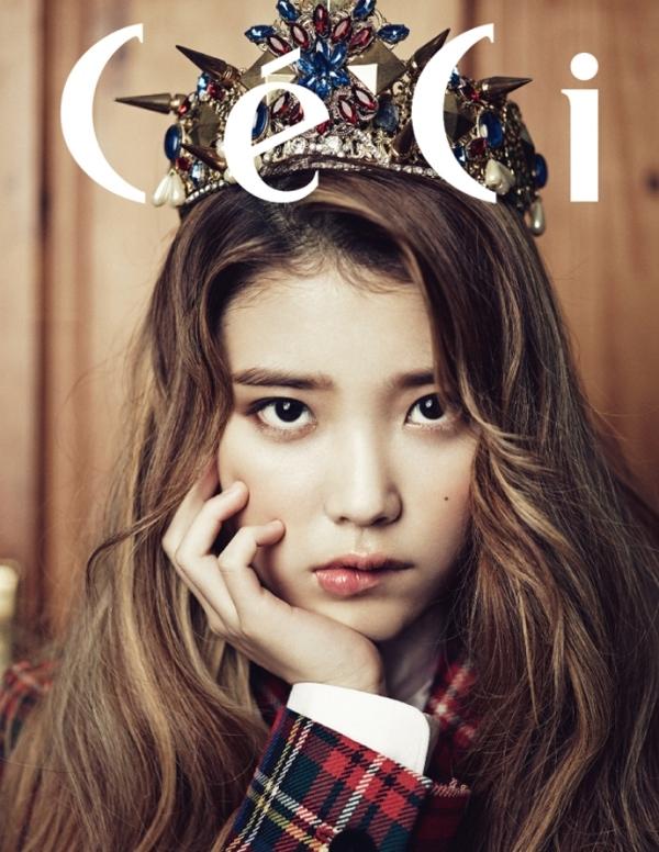 IU xinh đẹp ngỡ ngàng trên trang bìa tạp chí Céci