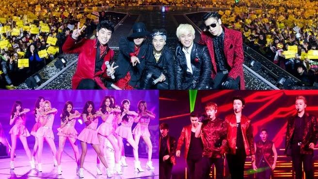 Big Bang - SNSD - Super Junior