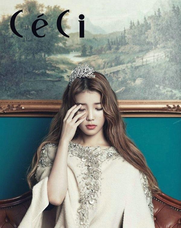 """""""Nữ hoàng"""" IU đẹp không tì vết trên tạp chí Céci"""