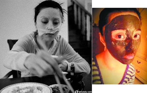 Mỹ nhân Hoa ngữ đắp mặt ngay cả khi ăn cơm.