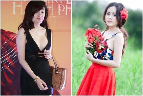 Hình ảnh Bà Tưng trước và sau khi thẩm mỹ.