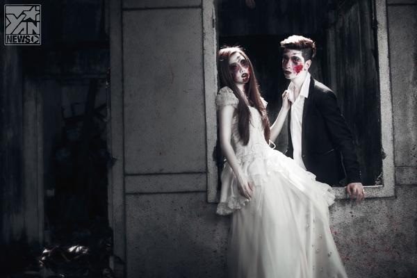 Giật mình với tạo hình cô dâu ma kinh dị của Yuu Quỳnh Nhi