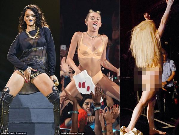 Rihanna, Miley Cyrus, Lady Gaga