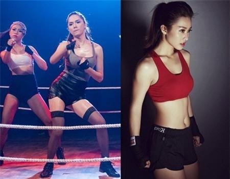 Andrea cũng thử nghiệm với hình ảnh boxing girl.