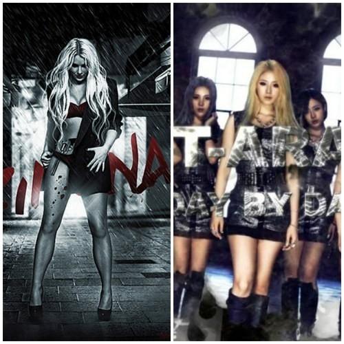 """T-ara từng nhận không ít gạch đá từ fan công chúa nhạc pop Britney Spears với nghi án """"đạo"""""""