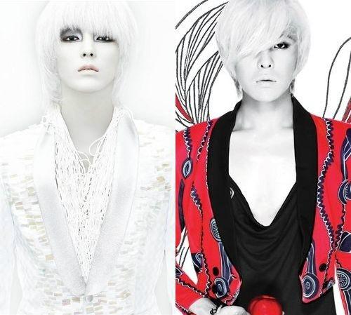 G-Dragon (phải) nhái style của Lee Jun Ki (trái) trong J Style.