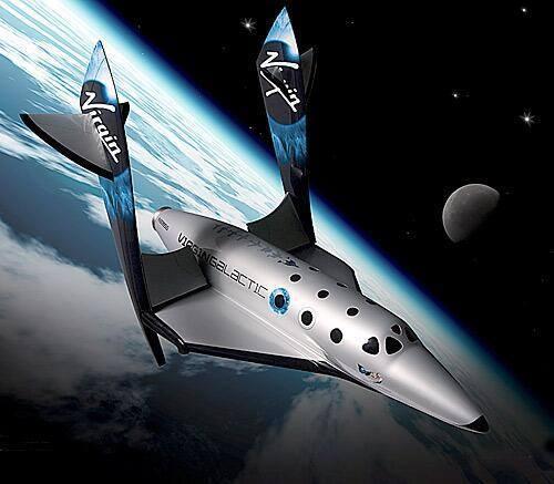 Hình ảnh mô phỏng của con tàu vũ trụ Virgin Galactic màLady Gagasẽ sử dụng để biểu diễn ở ngoài vũ trụ.