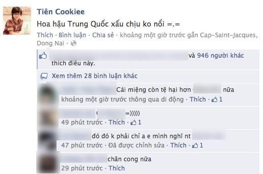 """Nhạc sĩ Tiên Cookie bức xúc: """"Hoa hậu Trung Quốc xấu chịu không nổi"""""""