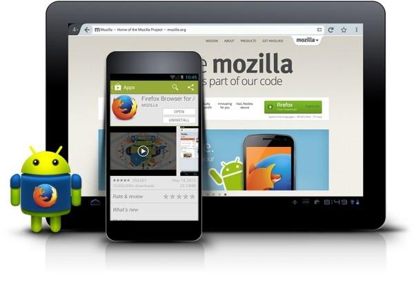 Firefox được cài sẵn trên một số thiết bị chạy Android