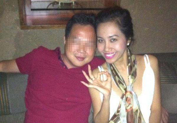 Cựu hoa hậu Mê Kông Mỹ Xuân bên bạn trai.