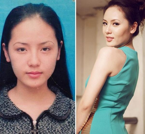 Từ thời đi học Phương Linh trông đã rất dịu dàng, dễ nhìn.