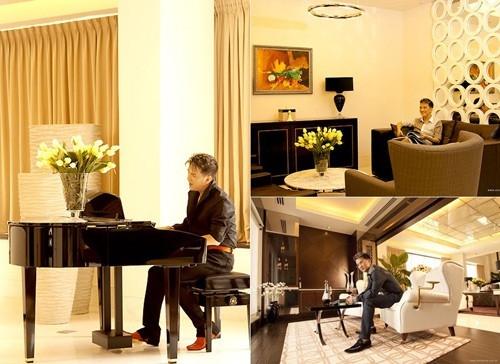 Penthouse của Đàm Vĩnh Hưng thiết kế thông thoáng, nhiều cây xanh và chan hòa ánh sáng   Ngôi nhà bao gồm đầy đủ các phòng chức năng như thư viện, phòng tắm, phòng giải trí, phòng ngủ,... - Tin sao Viet - Tin tuc sao Viet - Scandal sao Viet - Tin tuc cua Sao - Tin cua Sao