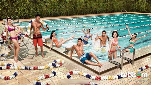 Bức ảnh lịch của TVB, tỷ lệ cơ thể của các nghệ sĩ hoàn toàn không ăn nhập với nhau.