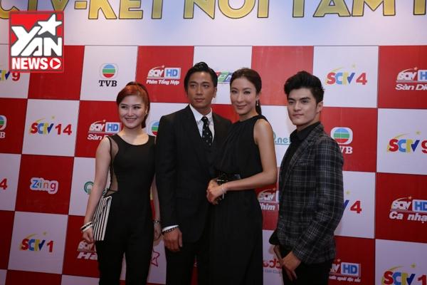 Hương Tràm và Lâm Vinh Hải chụp hình lưu niệm cùng cặp đôi TVB - Tin sao Viet - Tin tuc sao Viet - Scandal sao Viet - Tin tuc cua Sao - Tin cua Sao