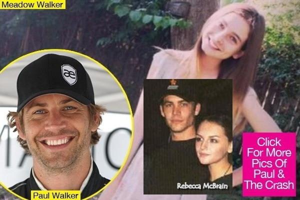 Rebecca McBrain là mối quan hệ nghiêm túc nhất của Paul Walker với kết quả là con gái Meadow sinh năm 1998. Tuy nhiên, Paul chưa bao giờ tiết lộ ảnh của Rebecca hay Meadow. Khi anh qua đời hôm 30/11, một tờ báo công bố bức ảnh được cho là con gái Meadow của Paul và Rebecca McBrain (ảnh nhỏ).