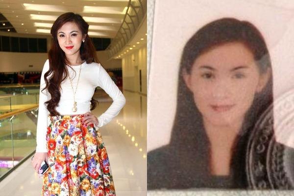 Tấm hình trên chứng minh thư mà Kelly mới chụp. Mái tóc dài buông xõa và gương mặt chỉ trang điểm nhẹ không làm hot girl... kém xinh.