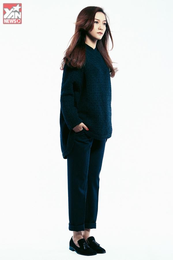 Đinh Hương khoe phong cách thời trang thu đông cá tính