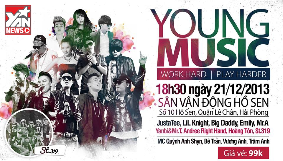 Thật bất ngờ khi đêm nhạc Young Music diễn ra trùng ngày sinh nhật 1 tuổi của YAN News - 21/12/2013