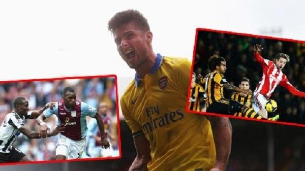 Giroud, Benteke và Crouch là những cầu thủ chơi không chiến tốt nhất ở Premier League