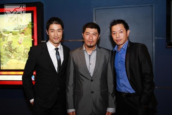Đạo diễn Charlie Nguyễn và hai diễn viên chính trong Tèo em - Johnny Trí Nguyễn và Thái Hòa