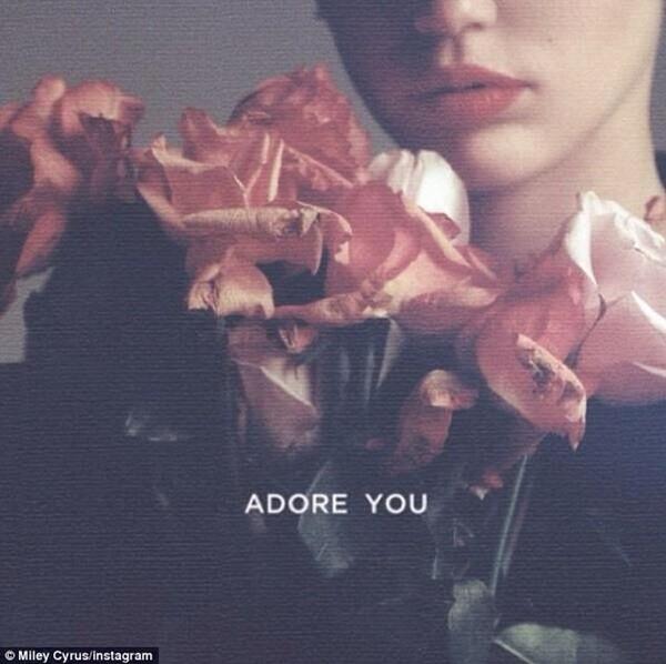 Bìa single Adore You của Miley Cyrus