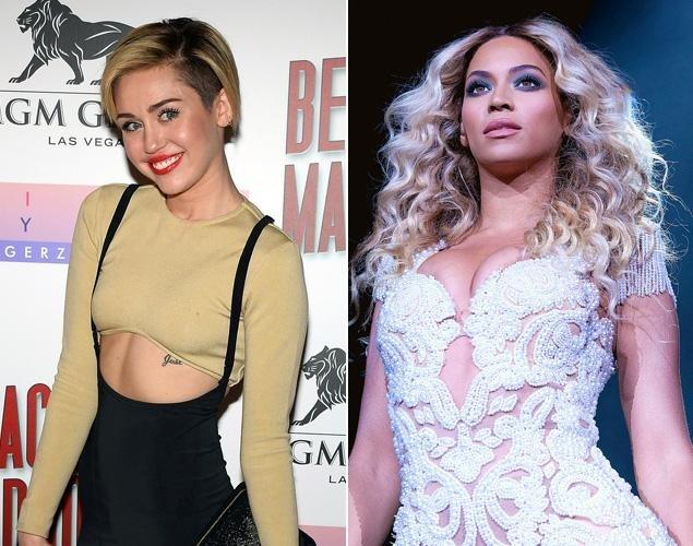 Miley Cyrus bị đưa tin có phát ngôn ngông cuồng với đàn chị Beyonce.