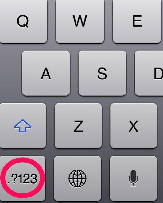 """Giả sử khi bạn muốn gõ một mật khẩu gồm cả chữ và số. Hãy nhấn vào phím """"123"""" và di tay lên số hoặc kí tự mà mình mong muốn và nhả tay. Lúc này từ bàn phím dạng số, máy sẽ tự động trả về bàn phím dạng chữ giúp bạn tiết kiệm kha khá thời gian."""