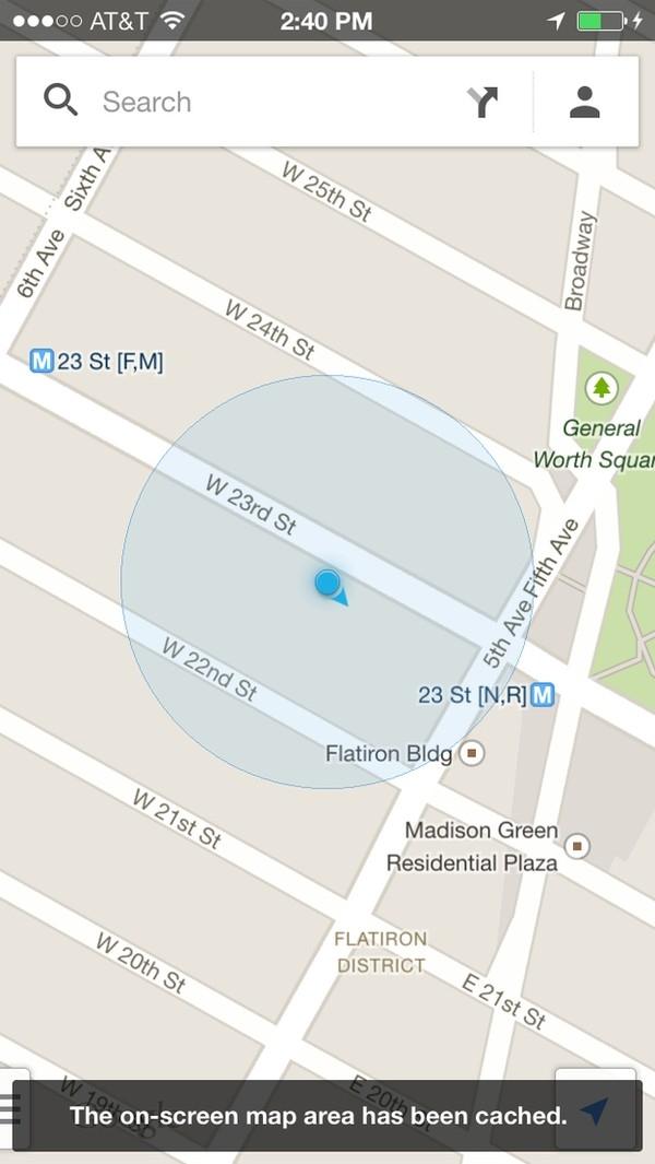 """Có thể bạn chưa biết, Google Maps có thể sử dụng được cả khi... ngoại tuyến. Theo đó, khi vẫn có kết nối với Internet, bạn hãy chuyển bản đồ đến khu vực mình muốn lưu lại và trong thanh tìm kiếm, gõ vào """"ok maps"""". Bản đồ khu vực này sau đó sẽ được tự động lưu vào bộ nhớ đệm để sử dụng khi không có kết nối mạng. Điều này sẽ giúp cho bạn tránh được khoản phí phát sinh có từ kết nối mạng."""
