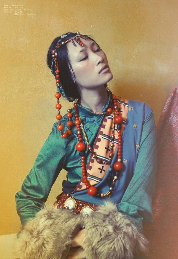 Trang Khiếu đẹp hút mắt trong bộ ảnh lấy cảm hứng từ Tây Tạng