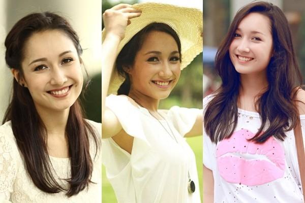 """Anna Trương cũng được thừa hưởng nét đẹp lai dễ thương với 2 chiếc """"lúm đồng xu"""" xinh xắn."""
