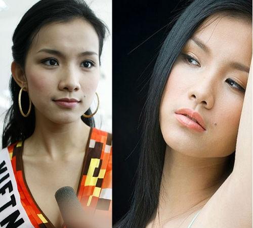 Hoa hậu Thùy Lâm cũng sở hữu nốt ruồi xinh xắn bên mép trái khiến đôi môi của cô trở nên gợi cảm hơn.