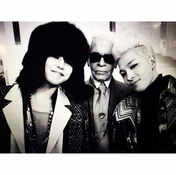 [Mlog Sao] G-Dragon và Taeyang quậy tưng tại tuần lễ thời trang