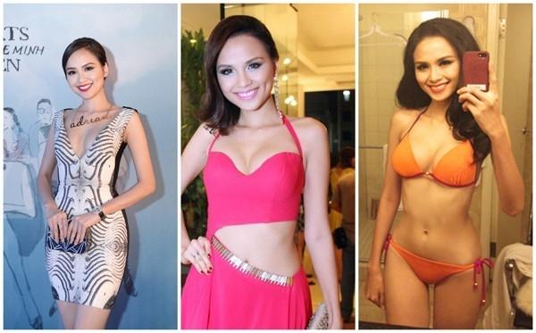 Diễm Hương cao 1m75 và có vóc dáng khá đẹp với số đo 84 - 61 - 92 khá chuẩn. Ngay từ khi bước chân vào showbiz, Hoa hậu Thế giới người Việt đã được đánh giá cao với vòng ngực trời phú.