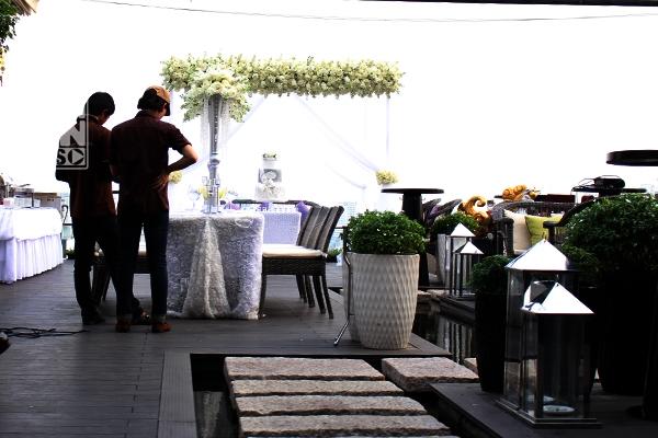 Quang cảnh bữa tiệc cưới khá đơn giản của Baggio