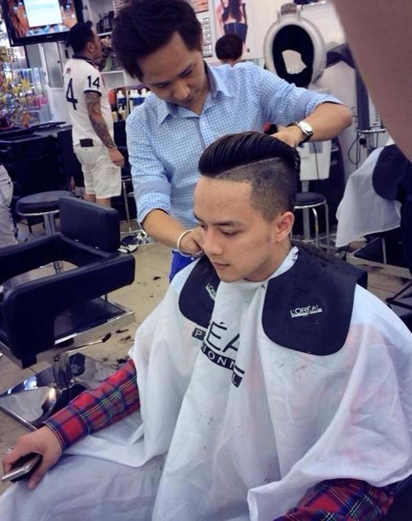 Cao Thái Sơn khoe tóc mới.