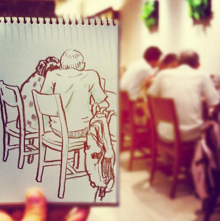 Sống động những bức tranh phác họa đời sống thường nhật của họa sỹ Nhật