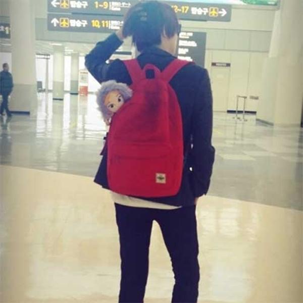 """Kim Hee Chul của Super Junior tiếp tục cơn sốt Frozen của anh : """"Thời trang sân bay cho người dẫn đầu. Người sáng lập của thời trang sân bay này là Hee nim"""""""