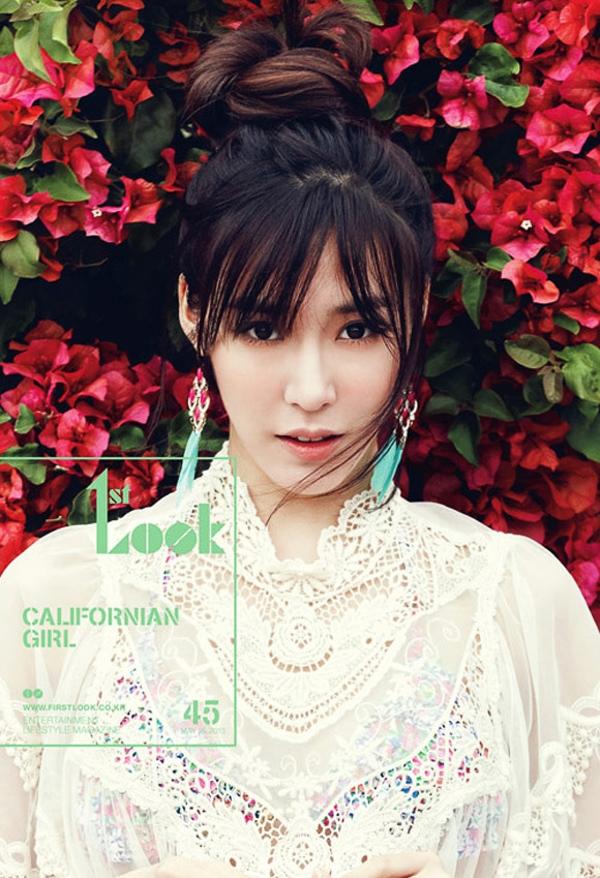 """Một thành viên khác của SNSD - Tiffany cũng """"bị ưng"""" kiểu mái này và đã """"mang"""" lên tạp chí."""