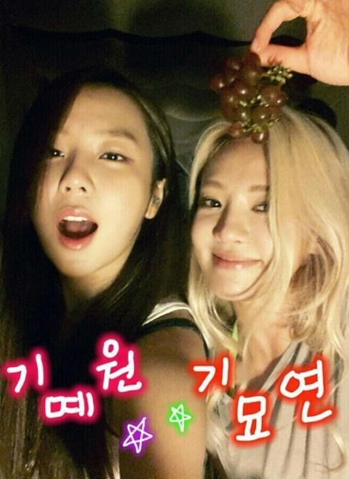 """Yewon (Jewelry)đã đăng tải một bức hình chụp chung với Hyoyeon và nói rằng: """"Tôi với Hyoyeon chụp hình cùng nhau vào ngày sinh nhật của Tiffany. Hyoyeon nói với tôi rằng cậu """"tự sướng"""" thật giỏi. Không biết đây có phải lời khen không nữa"""""""