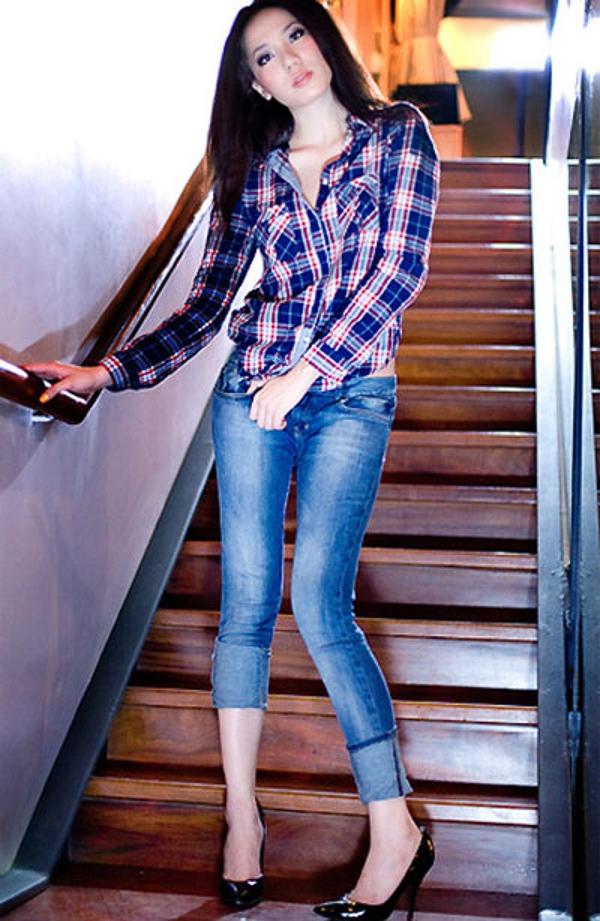 """Chọn quần jeans """"chuẩn"""" theo dáng người"""