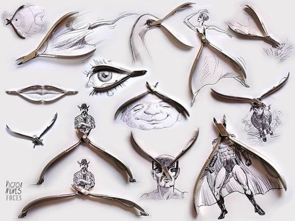 Siêu độc những hình ảnh ngộ nghĩnh kết hợp giữa tranh và đồ vật