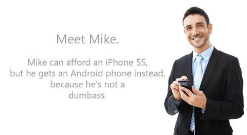 """""""Chỉ có ngớ ngẩn mới mua iPhone""""."""