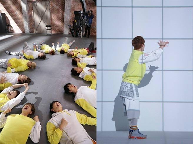 EXO quậy tưng bừng trong hậu trường quay quảng cáo