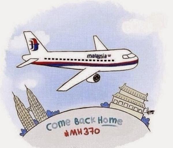 """Bức ảnh với dòng chữ """"Về nhà đi, MH370"""" - Ảnh: weibo"""