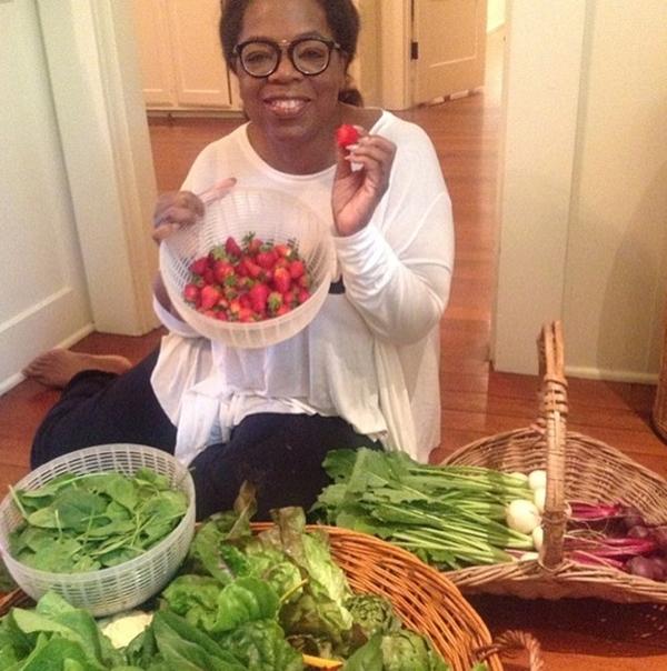Oprah yêu thích những sản phẩm rau sạch tươi mới.
