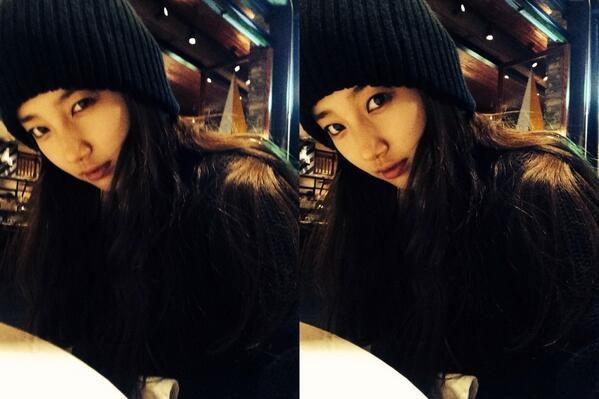 Suzy khoe một loạt hình mặt mộc xinh đẹp