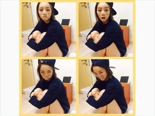 Sojin (Girl's Day) đã đăng tải hình cô trang điểm Hyeri thành mặt mèo